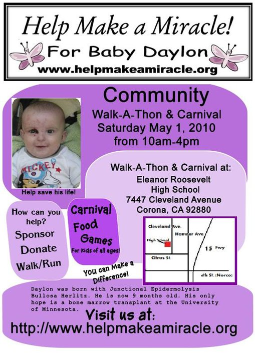 Help Make a Miracle Walk-A-Thon & Carnival