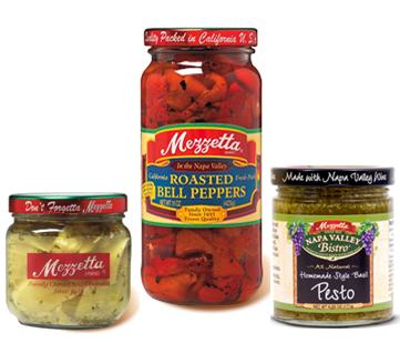 Mezzetta Artichoke Hearts, Roasted Red Bell Peppers, and Pesto