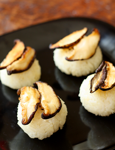 Onigiri + Shiitake mushrooms