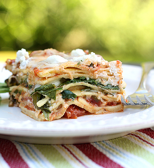 Piece of Spinach Goat Cheese Lasagna 2