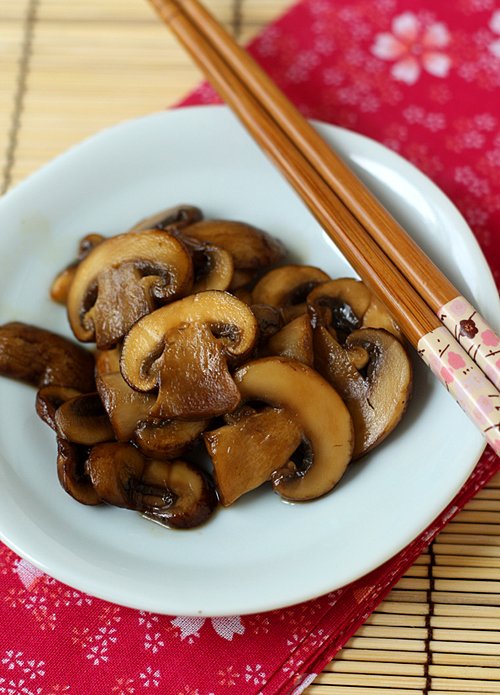 Sweet & Sour Crimini Mushrooms