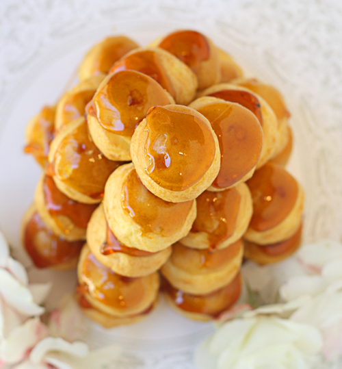 Aerial view of croquembouche