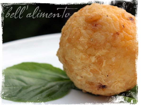 Arancini alla Siciliana closeup