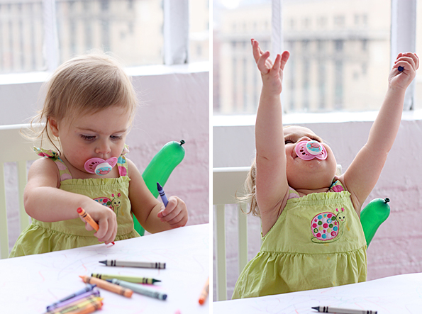Bug blissed out on crayons