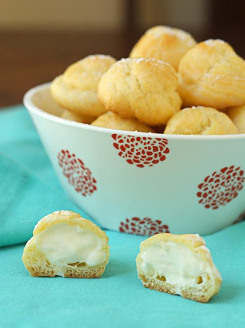 Cream puffs filled with lemon mascarpone cream
