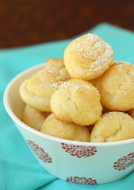Lemon mascarpone cream filled cream puffs