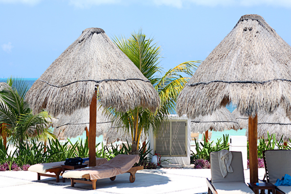 Relaxing at the beach in Cancun, Mexico