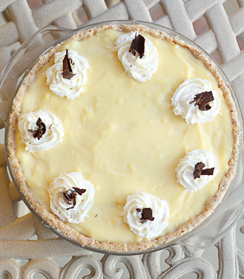 Fudge & Banana Custard Pie 1