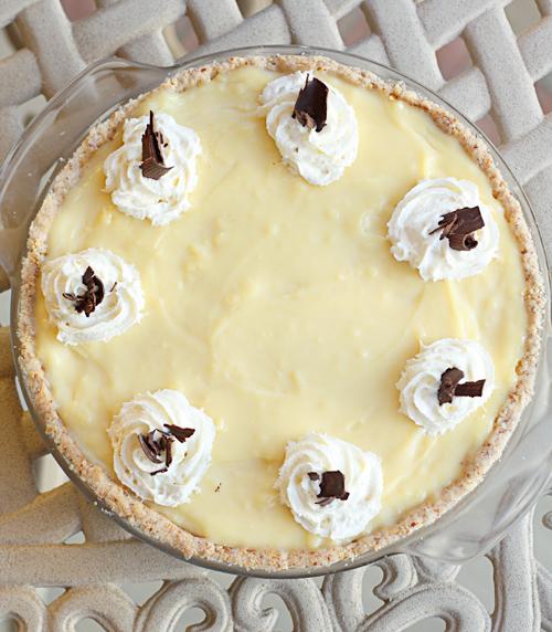 ... custard custard gelato fudge banana custard pie 3 fudge banana custard