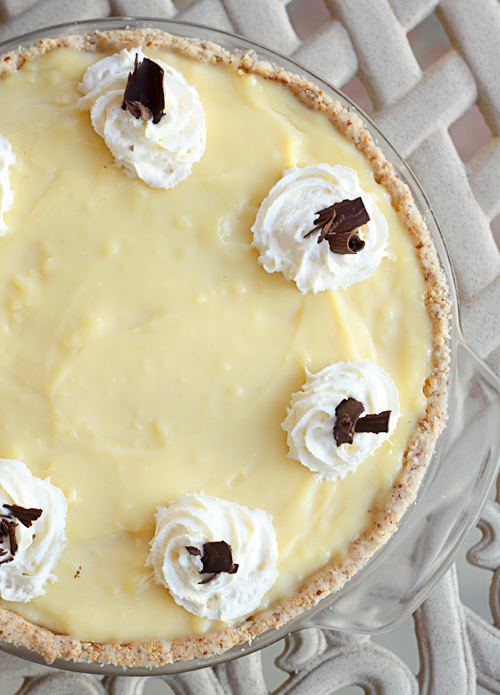 Fudge & Banana Custard Pie 2