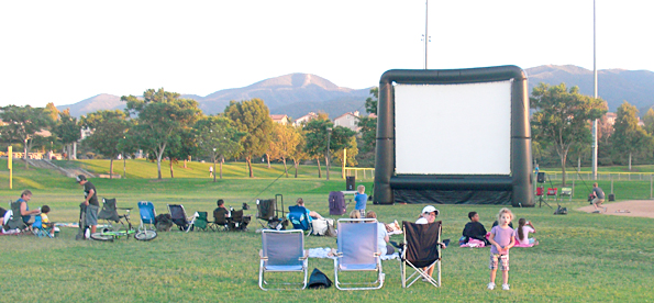 Movie night at the park