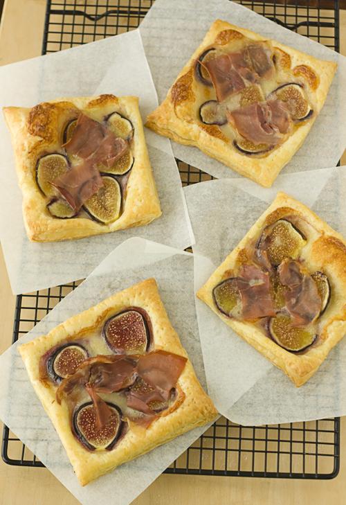 Fig, Brie, & Prosciutto Tarts