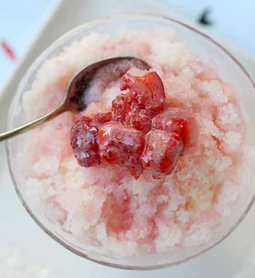 Ichigo Condensed Milk Kakigori (Strawberry & Sweetened Condensed Milk Japanese Shaved Ice)