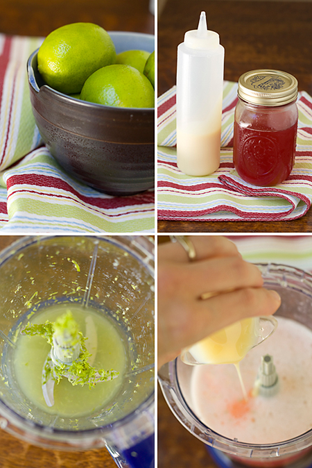 Making Sweetened Condensed Strawberry Limeade
