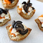 Olive & Herbed Cream Cheese Sandwich Cups