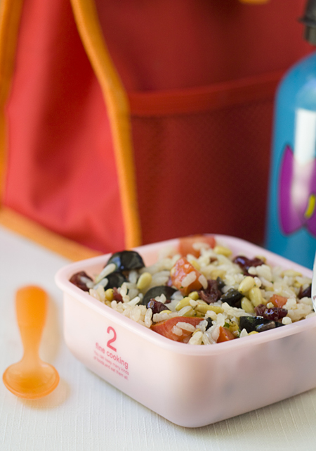 Rice & Olive Lunchbox Salad
