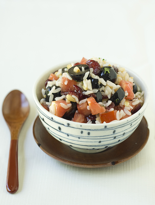 Rice & Olive Salad, a salad adults will love as well