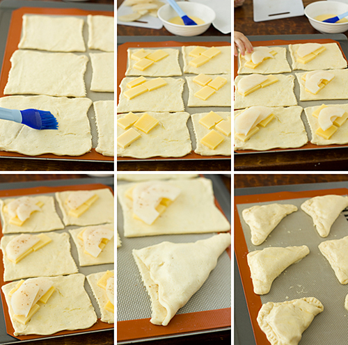 Assembling the turnovers