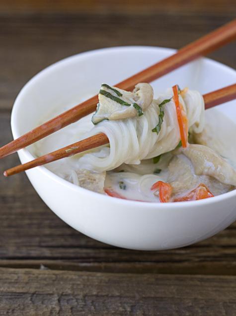 Bowl of Coconut Lemongrass Somen Noodle Soup 2