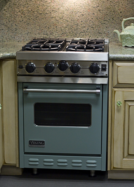 Gorgeous retro-looking range in the Viking Range show rooms