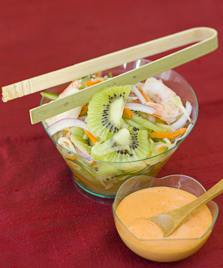 Kiwi Shrimp Banh Mi filling and spicy mayo sauce
