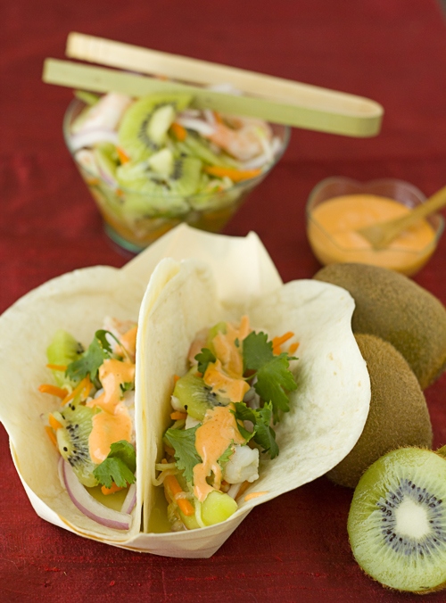 Light & Fresh Kiwi Shrimp Banh Mi Tacos