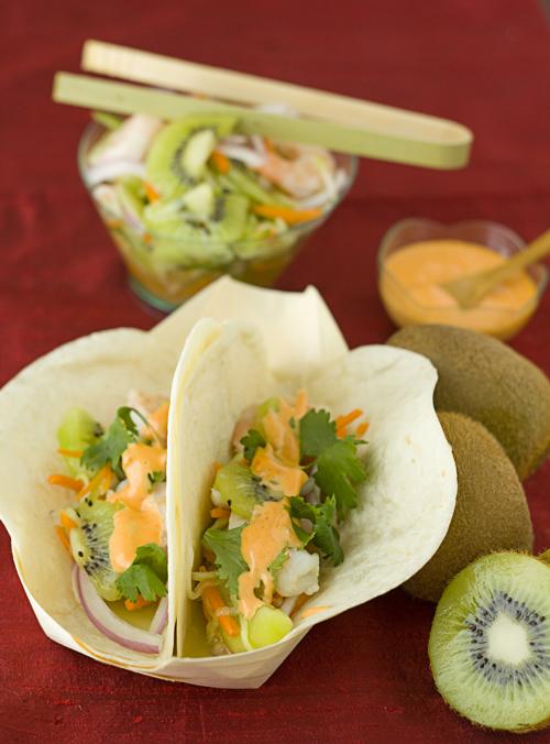 Light & Fresh Kiwi Shrimp Banh Mi Tacos
