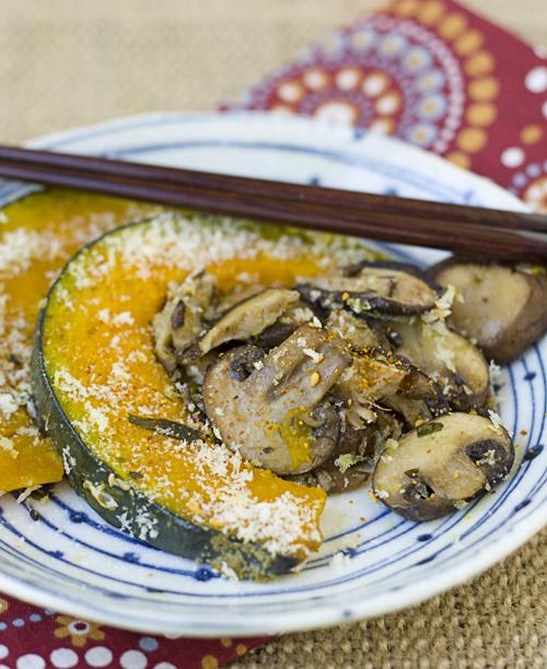 Roasted Mushrooms & Kabocha