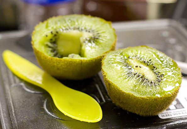 Spifes make kiwi eating easy!
