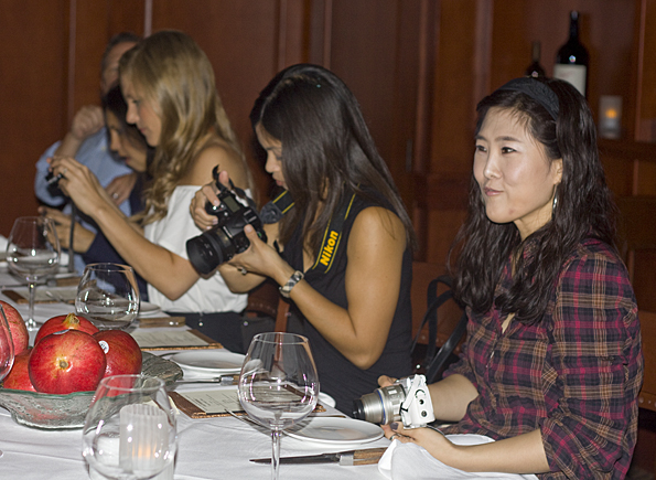 Bloggers at a dinner