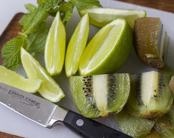 Fresh mint, lime, and green kiwi