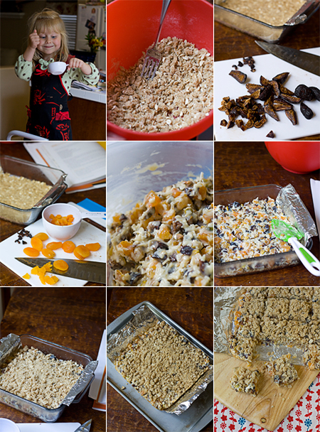 Making Apricot-Fig-Pistachio Cookie Bars