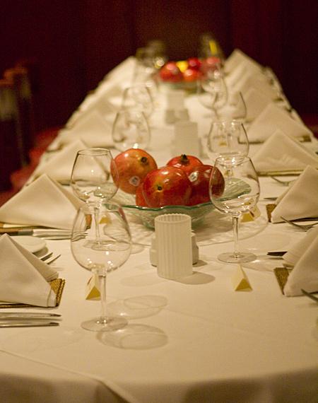 POM Harvest Dinner Table