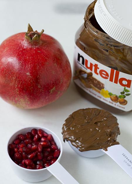 Pomegranate Arils + Nutella = Addictive Bliss