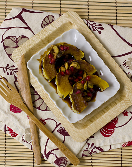 Roasted Squash with a Pomegranate Reduction