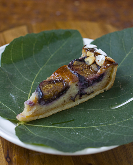 Small Pleasures Fig Frangipane Tart