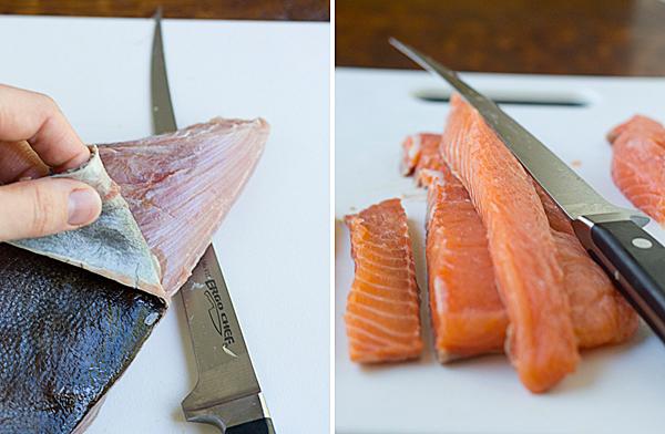 Testing the fillet knife