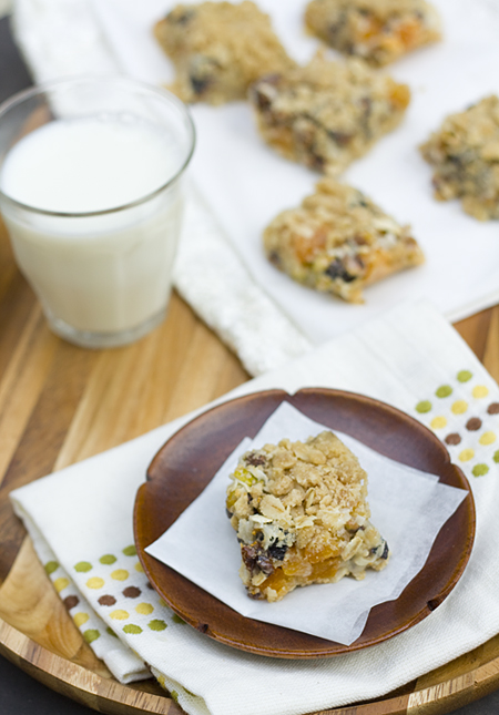 Tray of Apricot-Fig-Pistachio Cookie Bars