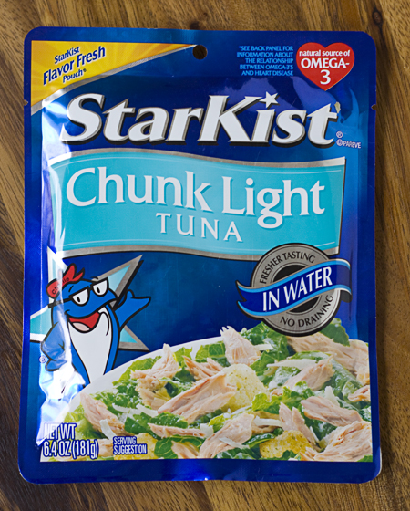 Tuna packed in a pouch