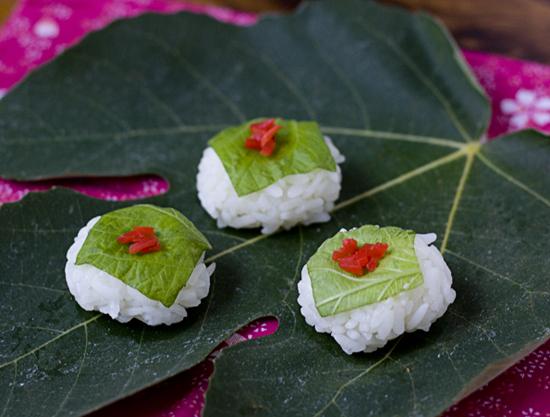 Vegetarian Shiso Temarizushi