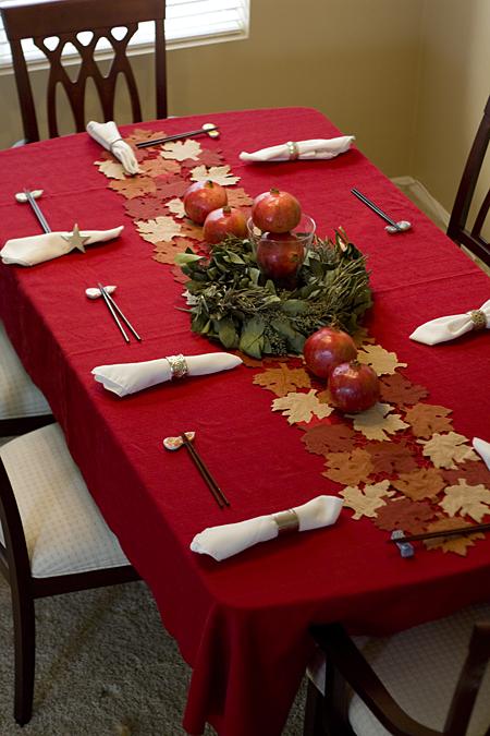 Pomegranate Harvest Table