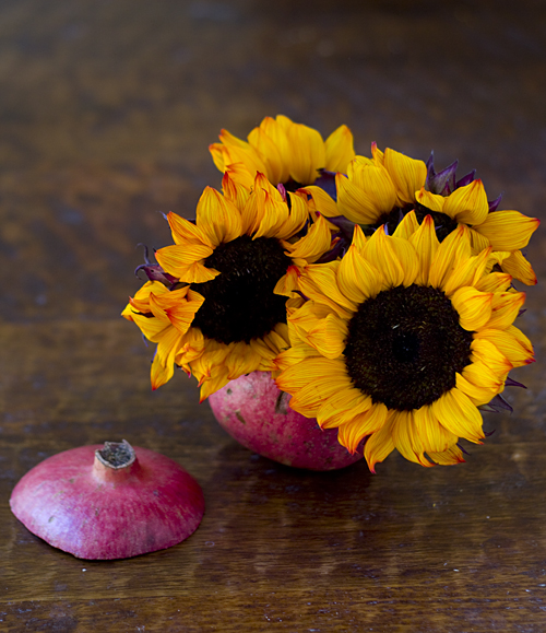 Sunflower Pomegranate Arrangement