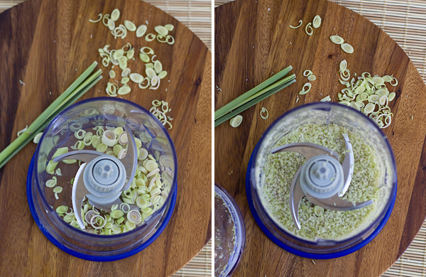 Use a food processor to grind up the lemongrass