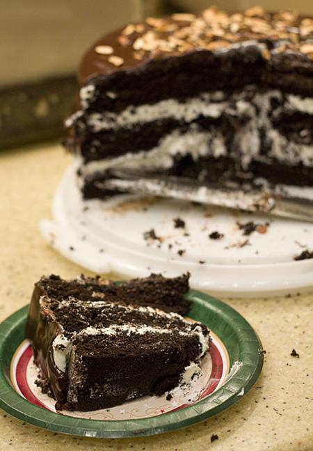 A slice of Ho Ho Cake