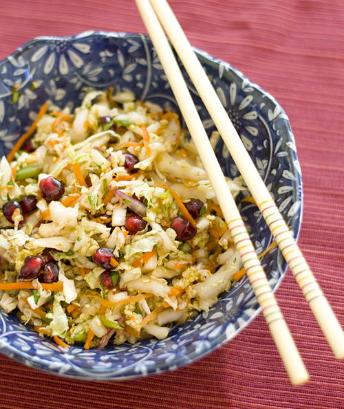 Chef Masa's Pomegranate Cabbage Slaw