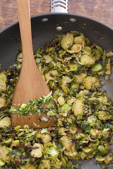 Cooking Bacon Brussels Sprouts Slaw