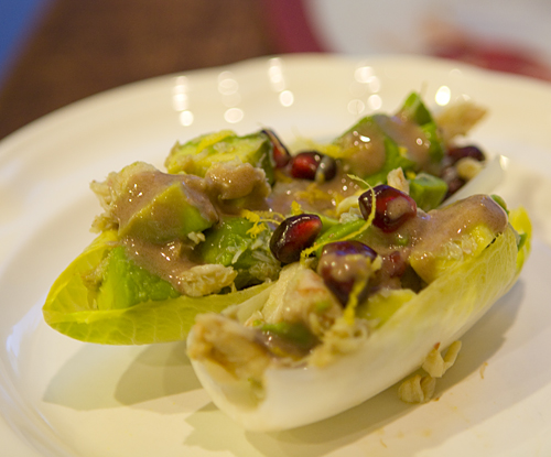 Post image for Endive Boats with Avocado, Pomegranate, & Crab Salad ...