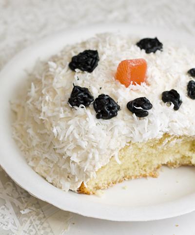 Leftover Snowman Birthday Cake