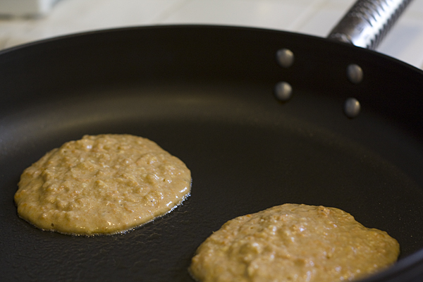 Cooking Sweet Potato Pancakes