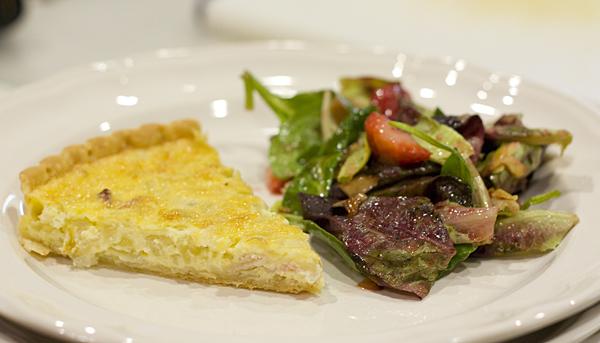 Dorie Greenspan's Quiche Lorraine and a simple green salad